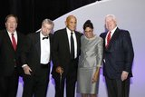 John McGahan-Board Chair, John Drew-President/CEO, Harry Belafonte-Artist & Social Activist, Sharon Scott-Chandler-VP/COO and Jack Williams-TV Anchor during ABCD Community Heroes Celebration at Boston Marriott Copley Place on November 4, 2016. CREDIT/ CHRIS ADUAMA.