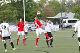 during Lamar Hunt U.S, Open Cup match between Boston City FC and Western Mass Pioneers Soccer Club at Lusitano Stadium in Ludlow, MA on Wednesday, May 10, 2017. BCFC won 5-4 on penalty kicks. CREDIT/ CHRIS ADUAMA