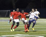 during Boston City FC and Cosmos B NPSL match at Malden Catholic High School in Malden, MA on Saturday, April 29, 2017. The match ended 1-1. CREDIT/ CHRIS ADUAMA.