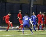 during BCFC and Assumption College preseason match at Malden Catholic High School in Malden, MA on Tuesday, April 18, 2017. BCFC lost 1-2. CREDIT/ CHRIS ADUAMA