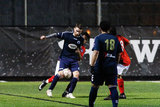 during Boston City FC and Hartford City NPSL match at Al-Marzook Field, University of Hartford, West Hartford, CT on Saturday, April 27, 2019. The match ended in 3-3 tie. CREDIT/ CHRIS ADUAMA