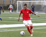 during Boston City FC and Rhode Island Reds NPSL match at Brother Gilbert Stadium in Malden, MA on Saturday, May 13, 2017. The match ended in 3-3 tie. CREDIT/ CHRIS ADUAMA