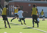 during BCFC first tryout for 2018 season held at Harry Della Russo Stadium in Revere, MA on Saturday, October 21, 2017. CREDIT/ CHRIS ADUAMA