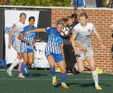during Boston Breakers and North Carolina Courage NWSL match at Jordan Field at Harvard University in Allston, MA on Sunday, May 7, 2017. Courage won 1-0. CREDIT/ CHRIS ADUAMA