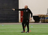 during New England Revolution's 2018 first preseason training under Head Coach Brad Friedel in the Empower Field House at Gillette Stadium in Foxboro, MA on Tuesday, January 23, 2018. CREDIT/ CHRIS ADUAMA