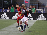 during New England Revolution and Toronto FC MLS match at Gillette Stadium in Foxboro, MA on Saturday, September 23, 2017. Revs won 2-1. CREDIT/ CHRIS ADUAMA