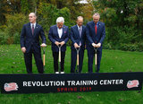 New England Revolution Breaks Ground on New Training Center near Gillette Stadium in Foxboro, MA on Monday, October 15, 2018. CREDIT/ CHRIS ADUAMA