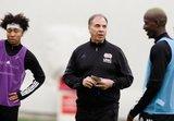 Head Coach Bruce Arena, Wilfried Zahibo (23)
