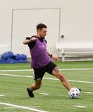 Diego Fagundez (14) during New England Revolution first 2020 Training Session at the Field House Gillette Stadium in Foxboro, MA on Monday, January 20, 2020. CREDIT/ CHRIS ADUAMA.
