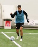 Nick Woodruff during New England Revolution first 2020 Training Session at the Field House Gillette Stadium in Foxboro, MA on Monday, January 20, 2020. CREDIT/ CHRIS ADUAMA.