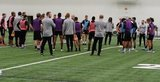 Head Coach Bruce Arena and players during New England Revolution first 2020 Training Session at the Field House Gillette Stadium in Foxboro, MA on Monday, January 20, 2020. CREDIT/ CHRIS ADUAMA.