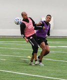 Teal Bunbury (10), Michael Mancienne during New England Revolution first 2020 Training Session at the Field House Gillette Stadium in Foxboro, MA on Monday, January 20, 2020. CREDIT/ CHRIS ADUAMA.