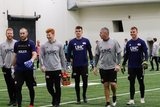 Brad Knighton - GK and Keepers during New England Revolution first 2020 Training Session at the Field House Gillette Stadium in Foxboro, MA on Monday, January 20, 2020. CREDIT/ CHRIS ADUAMA.
