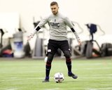 during New England Revolution's first training of the 2017 season at the Empower Field House at Gillette Stadium in Foxboro, MA on Tuesday, January 24, 2017. CREDIT/ CHRIS ADUAMA.