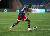 during New England Revolution II  and Greenville Triumph SC USL League One match on Wednesday, August 26, 2020 at Gillette Stadium in Foxboro, MA. Revs won 1-0.  CREDIT/ CHRIS ADUAMA.