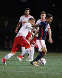 during New England Revolution and New York Red Bulls in U.S. Open Cup match at Jordan Field -Harvard University in Allston, MA on Thursday, July 13, 2017. Red Bulls won 1-0. CREDIT/ CHRIS ADUAMA
