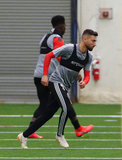 Gabriel Somi (91) during New England Revolution pre-season training in Empower Field House at Gillette Stadium in Foxboro, MA on Monday, February 11, 2019. CREDIT/ CHRIS ADUAMA