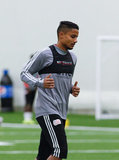Michael Mancienne (28) during New England Revolution pre-season training in Empower Field House at Gillette Stadium in Foxboro, MA on Monday, February 11, 2019. CREDIT/ CHRIS ADUAMA