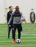 Juan Fernando Caicedo (9) during New England Revolution pre-season training in Empower Field House at Gillette Stadium in Foxboro, MA on Monday, February 11, 2019. CREDIT/ CHRIS ADUAMA