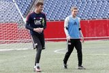 during Revolution Training at Gillette Stadium in Foxboro, MA on Tuesday, February 28, 2017. CREDIT/ CHRIS ADUAMA