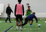 Diego Fagundez (14) during New England Revolution 2020 Pre-Season Training Session at the Field House- Gillette Stadium in Foxboro, MA on Friday, January 31, 2020. CREDIT/ CHRIS ADUAMA.