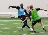 Wilfried Zahibo (23) during New England Revolution 2020 Pre-Season Training Session at the Field House- Gillette Stadium in Foxboro, MA on Friday, January 31, 2020. CREDIT/ CHRIS ADUAMA.