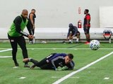 Andrew Farrell (2) during New England Revolution 2020 Pre-Season Training Session at the Field House- Gillette Stadium in Foxboro, MA on Friday, January 31, 2020. CREDIT/ CHRIS ADUAMA.