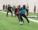 Wilfried Zahibo (23), Michael Mancienne (28) during New England Revolution 2020 Pre-Season Training Session at the Field House- Gillette Stadium in Foxboro, MA on Friday, January 31, 2020. CREDIT/ CHRIS ADUAMA.