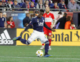 during New England Revolution and Chicago Fire MLS match at Gillette Stadium in Foxboro, MA. on Saturday, September 22, 2018. The match ended 2-2. CREDIT/ CHRIS ADUAMA
