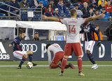 during New England Revolution and Atlanta FC first MLS match at Gillette Stadium in Foxboro, MA on Saturday, September 30, 2017. The match ended 0-0 tie. CREDIT/ CHRIS ADUAMA