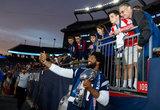 N.E. Patriots Deatrich Wise Jr. (91) DL at New England Revolution and Atlanta United FC MLS match at Gillette Stadium in Foxboro, MA on Saturday, April 13, 2019. Atlanta United won 2-0. CREDIT/ CHRIS ADUAMA