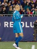 Cody Cropper (1) during Revolution and Atlanta United FC MLS match at Gillette Stadium in Foxboro, MA on Saturday, April 13, 2019. Atlanta United won 2-0. CREDIT/ CHRIS ADUAMA