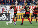 Juan Fernando Caicedo (9) during Revolution and Atlanta United FC MLS match at Gillette Stadium in Foxboro, MA on Saturday, April 13, 2019. Atlanta United won 2-0. CREDIT/ CHRIS ADUAMA