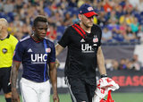 during New England Revolution and D.C. United MLS match at Gillette Stadium in Foxboro, MA on Saturday, June 30, 2018. Revs won 3-2. CREDIT/ CHRIS ADUAMA