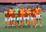 Dynamo Starting XI before New England Revolution and Houston Dynamo MLS match at Gillette Stadium in Foxboro, MA on Saturday, April 8, 2017.  Revs won 2-0 CREDIT/ CHRIS ADUAMA