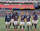 Revolution Starting XI before New England Revolution and Houston Dynamo MLS match at Gillette Stadium in Foxboro, MA on Saturday, April 8, 2017.  Revs won 2-0 CREDIT/ CHRIS ADUAMA
