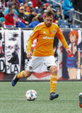 Eric Alexander (6) during New England Revolution and Houston Dynamo MLS match at Gillette Stadium in Foxboro, MA on Saturday, April 8, 2017.  Revs won 2-0 CREDIT/ CHRIS ADUAMA