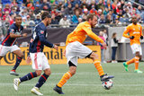 Lee Nguyen (24), Eric Alexander (6) during New England Revolution and Houston Dynamo MLS match at Gillette Stadium in Foxboro, MA on Saturday, April 8, 2017.  Revs won 2-0 CREDIT/ CHRIS ADUAMA