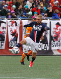 Diego Fagundez (14) during New England Revolution and Houston Dynamo MLS match at Gillette Stadium in Foxboro, MA on Saturday, April 8, 2017.  Revs won 2-0 CREDIT/ CHRIS ADUAMA