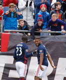 Andrew Farrell (2) during New England Revolution and Houston Dynamo MLS match at Gillette Stadium in Foxboro, MA on Saturday, April 8, 2017.  Revs won 2-0 CREDIT/ CHRIS ADUAMA