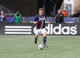 Kelyn Rowe (11) during New England Revolution and Houston Dynamo MLS match at Gillette Stadium in Foxboro, MA on Saturday, April 8, 2017.  Revs won 2-0 CREDIT/ CHRIS ADUAMA