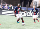 Je-Vaughn Watson (15) during New England Revolution and Houston Dynamo MLS match at Gillette Stadium in Foxboro, MA on Saturday, April 8, 2017.  Revs won 2-0 CREDIT/ CHRIS ADUAMA