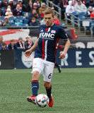 Scott Caldwell (6) during New England Revolution and Houston Dynamo MLS match at Gillette Stadium in Foxboro, MA on Saturday, April 8, 2017.  Revs won 2-0 CREDIT/ CHRIS ADUAMA
