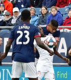 Michael Mancienne (28) during New England Revolution and FC Cincinnati MLS match at Gillette Stadium in Foxboro, MA on Sunday, March 24, 2019. The match ended in 2-0 win for FC Cincinnati. CREDIT/ CHRIS ADUAMA