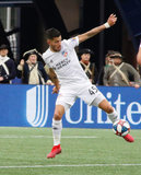 Emmanuel Ladesma (45) during New England Revolution and FC Cincinnati MLS match at Gillette Stadium in Foxboro, MA on Sunday, March 24, 2019. The match ended in 2-0 win for FC Cincinnati. CREDIT/ CHRIS ADUAMA