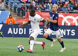 Kekuta Manneh (31), Diego Fagundez (14), during New England Revolution and FC Cincinnati MLS match at Gillette Stadium in Foxboro, MA on Sunday, March 24, 2019. The match ended in 2-0 win for FC Cincinnati. CREDIT/ CHRIS ADUAMA