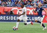 Kekuta Manneh (31) during New England Revolution and FC Cincinnati MLS match at Gillette Stadium in Foxboro, MA on Sunday, March 24, 2019. The match ended in 2-0 win for FC Cincinnati. CREDIT/ CHRIS ADUAMA