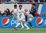 Carles Gil (22) during New England Revolution and FC Cincinnati MLS match at Gillette Stadium in Foxboro, MA on Sunday, March 24, 2019. The match ended in 2-0 win for FC Cincinnati. CREDIT/ CHRIS ADUAMA