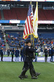 Cranston RI Honor Guard during New England Revolution and FC Dallas MLS match at Gillette Stadium in Foxboro, MA on Saturday, April 14, 2018. Revs lost 0-1. CREDIT/ CHRIS ADUAMA