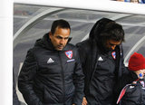 Coach Oscar Pareja during New England Revolution and FC Dallas MLS match at Gillette Stadium in Foxboro, MA on Saturday, April 14, 2018. Revs lost 0-1. CREDIT/ CHRIS ADUAMA